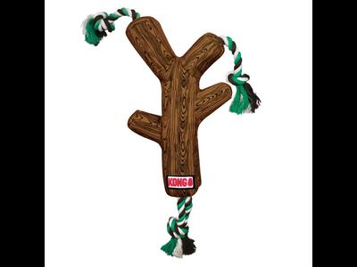 Kong Fetchstix - Werpstok met touw en pieper - Trekken, Gooien en Apporteren