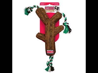 Kong Fetchstix werpstok met touw en pieper