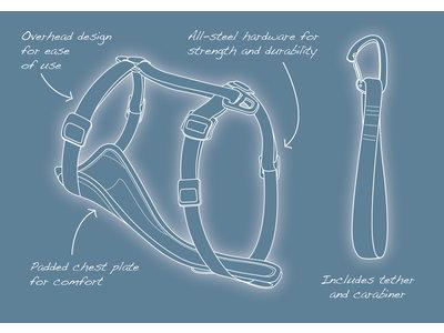 Kurgo Enhanced Strength Tru-Fit Dog Car Harness - Veiligheidsharnas, verstelbaar op 5 plaatsen - in Rood of Zwart van XS tot XL