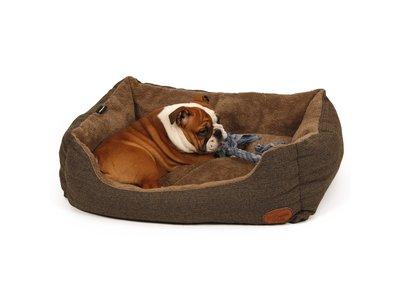 Zachte en Warme Hondenmand met afneembare en wasbare hoes - 51 Degrees North Heringbone - Antraciet S/M/L