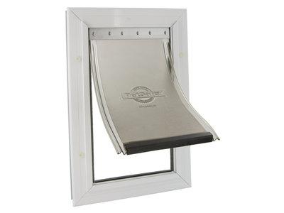 Staywell® 600 Serie - Aluminium huisdierluik met slijtvaste flexibele klap met UV-zonbescherming in 4 maten beschikbaar