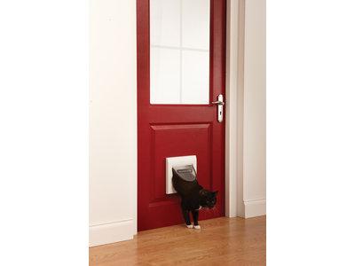 Staywell® 4 sluitposities klassiek kattenluik Wit
