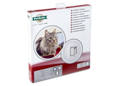 PetSafe® Installation Adaptor Bruin of Wit voor inbouw kattenluik