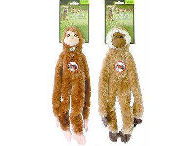 Skinneeez Flat Monkey - vrij van pluche vulling - met pieper