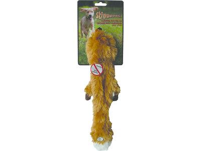 Skinneeez Plush Fox - vrij van pluche vulling - met pieper