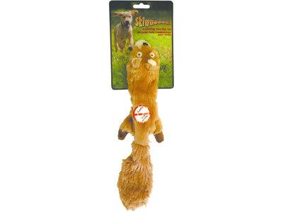 Skinneeez Plush Squirrel - vrij van pluche vulling - met pieper