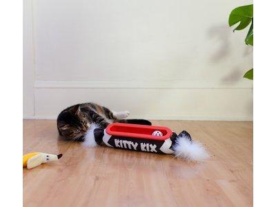 Petstages Kitty Roll Kicker Track - Interactief speelgoed met balletjes en kattenkruid