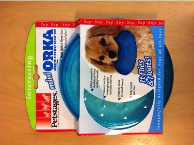 Kauwspeelgoed voor Honden - Masseert het tandvlees - Geschikt voor grotere honden - Petstages Orka Flyer Blauw