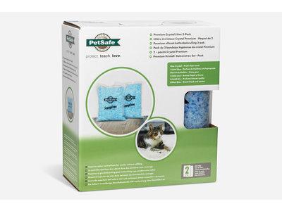 Premium Crystal Litter - 2-Pack 2kg. - Petsafe Deluxe Silicaat kattenbakvulling