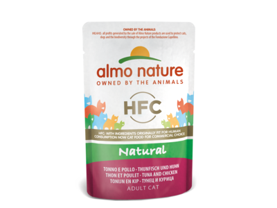 Almo Nature Kat HFC Natvoer - Natural - Pouch 24 x 55g