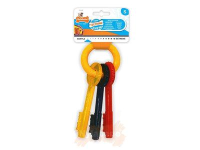 Nylabone Puppy kauwspeelgoed sleutels met baconsmaak