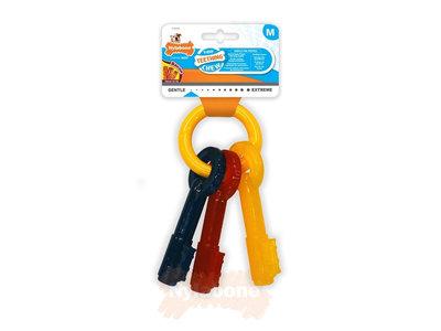 Puppy kauwspeelgoed sleutels met baconsmaak - Nylabone - in XS, S of M
