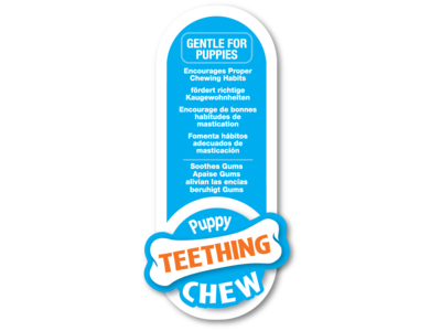 Puppy Starterkit Triopack kauwbotten met kipsmaak voor wisselgebit - Nylabone - Small