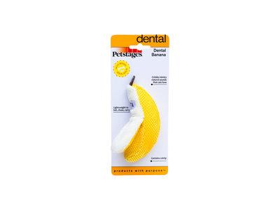 Petstages Dental Banana - Gebitsverzorgend speelgoed met catnip voor katten - Bevat Kattenkruid