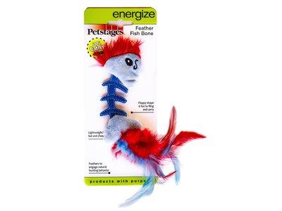 Stimulerend speelgoed met Catnip voor Katten - Feather Fish Bone