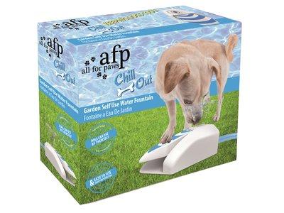 AFP Chill Out Verkoelende Waterfontein voor honden - Makkelijk aan te sluiten op tuinslang en voorzien van anti-slip oppervlakte
