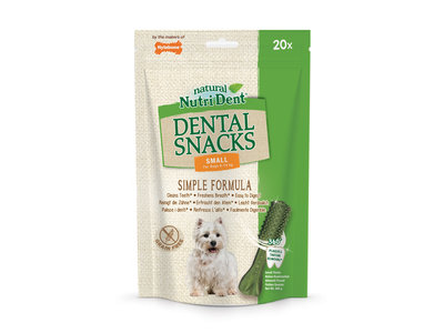 Gebitsverzorgende hondensnack tegen tandplak en tandsteen - Nylabone Nutri Dent - van Mini tot Large