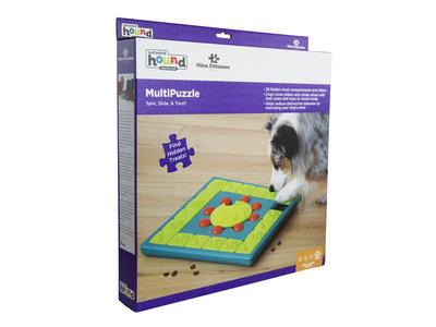 Interactieve hondenpuzzel vulbaar met snacks voor de slimste honden - Outward Hound Multipuzzle