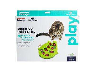 Interactieve puzzel vulbaar met snacks voor katten - Petstages Buggin Out  - Aanpasbare moeilijkheidsgraad