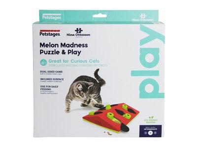 Interactieve puzzel vulbaar met snacks voor katten - Petstages Melon Madness - Instelbare moeilijkheidsgraad