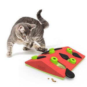 Interactieve kattenpuzzel vulbaar met snacks - Melon Madness