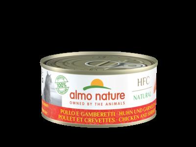 Almo Nature  Natvoer voor Katten - HFC Natural - 24 x 150g - Bereid met natuurlijke vers vlees of vis - Verkrijgbaar in diverse smaken