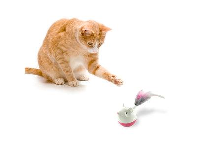 Interactieve puzzel vulbaar met snacks voor katten - Petstages Hunt N Swat