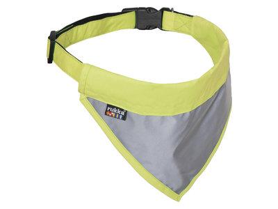 Rukka Pets Flip Safety Scarf - Reflecterende veiligheidsbandana voor honden - Voor betere zichtbaarheid - Geel, groen en roze - S / M / L / XL