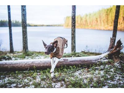 Rukka Pets Comfy Jacket - Warme fleece jas voor honden -  9 maten - Bruin, grijs