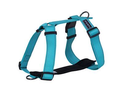 Rukka Pets Form harnas - Verstelbaar hondentuig Y-model - Zwart, emerald, turquoise - XXS, XS, S, M, L