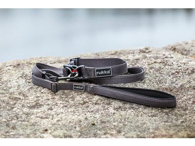 Rukka Pets Bliss Collar - Verstelbare hondenhalsband - X-small, small, medium, large - Grijs, roze, zwart