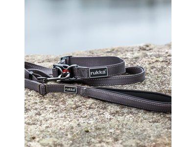 Rukka Pets Bliss Leash - Verstelbare hondenriem - X-small, small, medium, large - Grijs, roze, zwart