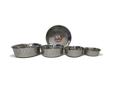 RVS voer- en drinkbak Diamond Plate - in 4 maten
