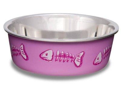 Loving Pets Bella Bowl - Vrolijke RVS drink- en voerbak voor katten - 3 kleuren - 240 ml
