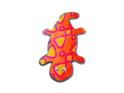 Sterk kauwspeelgoed met onverslaanbare pieper - Outward Hound Invincibles Gecko Red/Orange