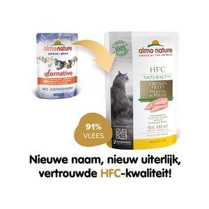 Almo Nature Natvoer voor Katten - HFC Plus Pouches - 24 x 55g