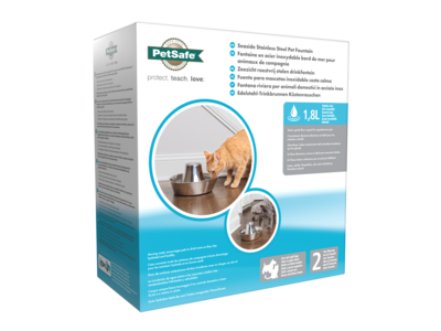 Stoere RVS drinkfontein voor katten en kleine honden