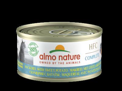 Almo Nature  Natvoer met 100% vers vlees of vis voor Katten - HFC Complete - 24 x 70g - in 4 Smaken