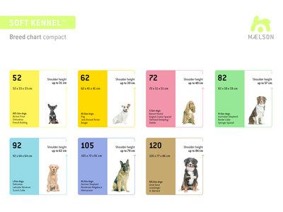 Maelson Soft Kennel - Robuuste hondenbench van zacht materiaal - Opvouwbare kennel met stevig stalen binnenframe - Beige/zwart - XXS / XS / S / M / L / XL / XXL