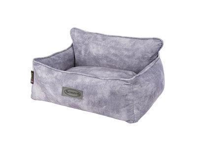 Scruffs Kensington - Stijlvolle eco-leren hondenmand - in blauw, bruin, grijs of beige