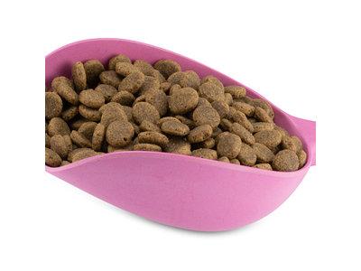 Milieuvriendelijk & Stevig Honden en Kattenvoerschepje - Beco Scoop - in Blauw, Roze of Naturel - 25 cm