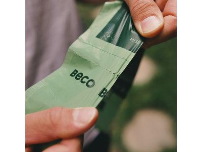 Afbreekbare Hondenpoep Zakjes met Mint Geur - 100% ecovriendelijk - Beco Pets Beco Bags - Rollen van 15 zakjes in 60,120 of 270 stuks verpakking - Beco Pets Bags