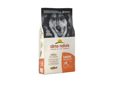 Almo Nature Hond Holistic Droogvoer voor Middelgrote tot Grote Hondenrassen - Maintenance - Rundvlees, Kip, Zalm of Lam in 400gr, 2kg of 12kg