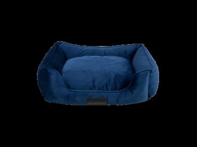 Luxe Velours Hondenmand - District 70 VELURO met afneembare en wasbare hoes - in Grijs, Groen of Blauw in S/M/L