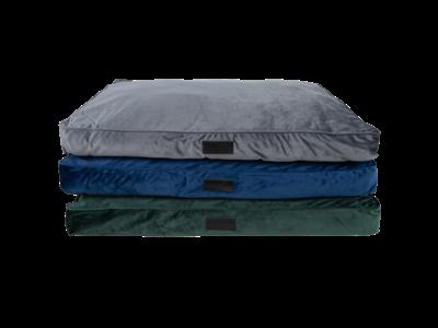 Luxe Velours Hondenkussen in 3 kleuren - District 70 VELURO - Grijs, Groen & Blauw - 100 x 70 cm