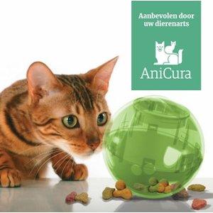 Speelgoed voor Katten Voerbal in Groen, Blauw, Oranje en Roze