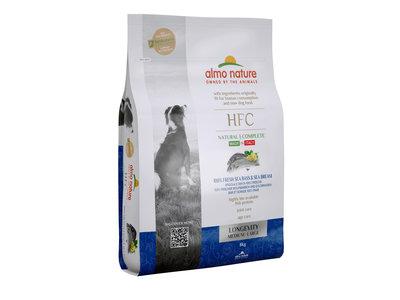 Almo Nature - Hond HFC Longevity brokken voor middelgrote tot grote honden - zeebaars en zeebrasem of varkensvlees - 8kg, 1,2kg