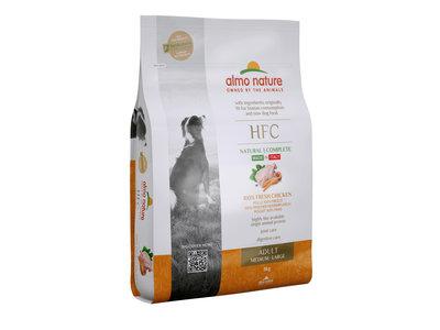 Almo Nature - Hond HFC Adult brokken voor middelgrote tot grote honden - kip, zalm of varkensvlees - 8kg, 1,2kg