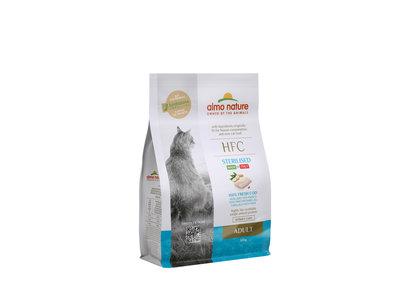 Almo Nature - Kat HFC Adult Sterilized brokken voor gecastreerde / gesteriliseerde katten - rund, kip, kabeljauw of zalm - 1,2kg, 300gr