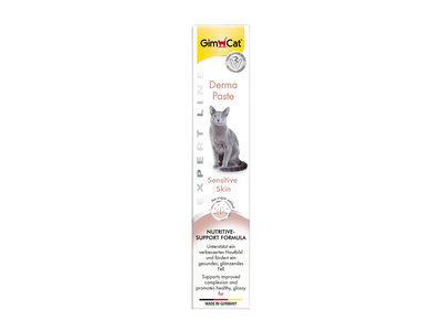 GimCat Derma Pasta - Aanvullend kattenvoer / kattensnack voor katten met een gevoelige huid - 50g